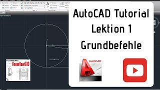 AutoCAD 2D Tutorial Deutsch Lektion 1 Grundbefehle