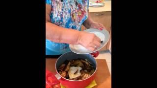 لوییم ویدا -برنج با بادمجان و گوجه فرنگی و گوشت چرخ شده leevim vida