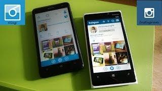 Windows Phone Apps: 6tag vs Instagram Beta