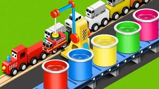 Colors for Children to Learn with Toy Street Vehicles - Educational Videos - Toy Cars for Kids