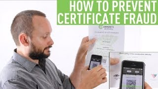 How To Prevent Certificate Fraud: Part 1
