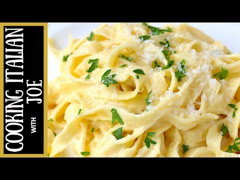 How to Make the Worlds Best Fettuccine Alfredo Cooking Italian with Joe