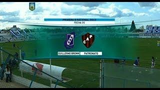 Fútbol en vivo GUILLERMO BROWN - PATRONATO. Fecha 35 del Torneo Nacional B 2015. FPT