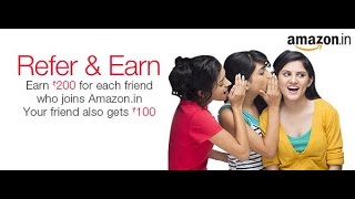 How to Earn Money From Amazon  Refer & Earn ₹200