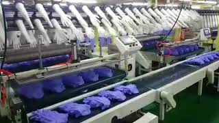 Disposable nitrile rubber glove factory