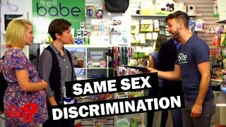 Lesbian Baby Registry Discrimination | What Would You Do? | WWYD