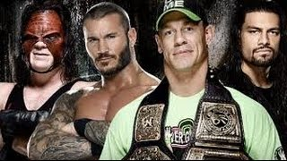 John Cena vs Roman Reigns vs Kane vs Randy Orton WWE Battleground