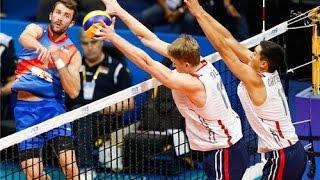 USA vs Serbia Volleyball Highlights - FIVB 2015 World League Men