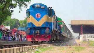 Silk City Express Train passing through Tongi Junction Railway Station- Bangladesh Railway