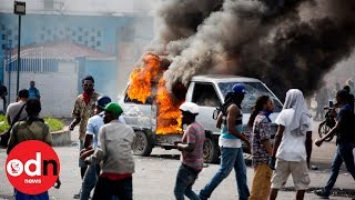 Chaos on the streets as anti-government protests sweep across Haiti