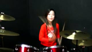Wings - Bujang Senang - Drum Cover by Nur Amira Syahira