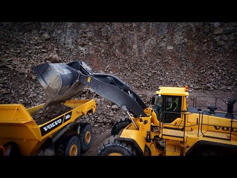 Volvo L350F Wheel loader promotional video