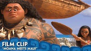 """""""Moana Meets Maui"""" Clip - Moana"""