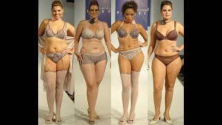 Fashion Week Plus Size 2017   Large Body Models   Fat Woman Wearing Tight Dresses   Fashion Show