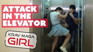 Krav Maga Girl | Attack in the Elevator | How to defend yourself