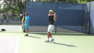 Rafa Nadal Backhand Practice At Cincinnati ATP Masters 2013