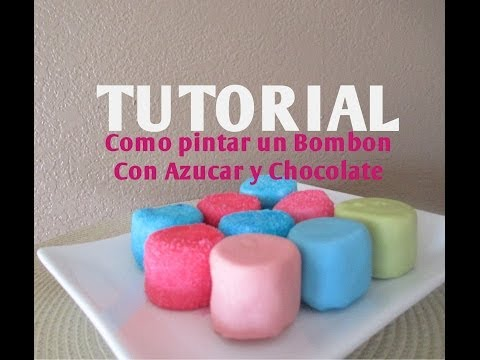 Cómo pintar azúcar de colores para decorar una paleta de bombón Madelin s Cakes