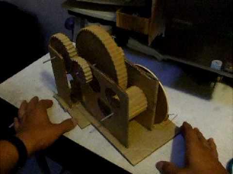 DIY Gear trains Trenes de engranes hechos en casa