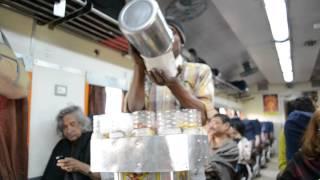 Serving Jhal Muri on Santiniketan Express