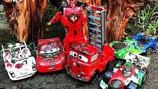 Disney Cars Lightning McQueen - Lego Duplo Race DISNEY PIXAR CARS 3 | Cartoons Videos for Children