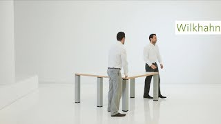 Palette Meeting Table - extend or divide. Mobile conference table