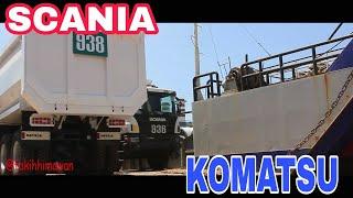 Nice truck and Heavy Equipment Scania, Komatsu Heavy Duty Truck ,Wheel Loader and Bulldozer