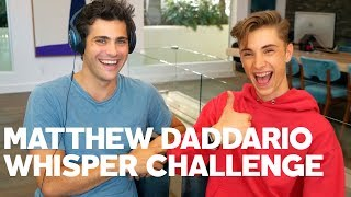 Matthew Daddario Plays RAW's Whisper Challenge