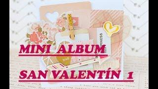MINI ALBUM SAN VALENTIN 1(paso a paso)