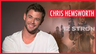 Chris Hemsworth: I promise my kids presents every time I leave for work!