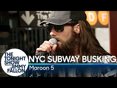 Xxx Mp4 Maroon 5 Busks In NYC Subway In Disguise 3gp Sex