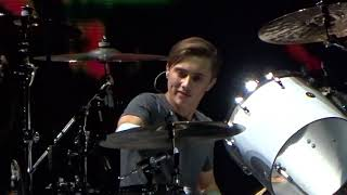 Nicholas Collins on Drums & Phil with I Don't care anymore, Glasgow 2017