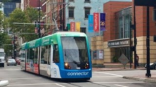 New Cincinnati Bell Connector Streetcar/Tram  Line, First Day Of Public Rides!