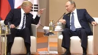 President Donald Trump MEETS Vladimir Putin FOR THE FIRST TIME at G20 Summit in Hamburg Germany 2017