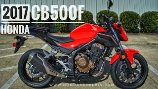 2017 Honda CB500F Review of Specs | Naked Sport Bike / Motorcycle Walk-Around Video (500cc) | Red