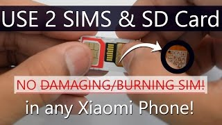 How to USE 2 SIMS and SD Card at Same Time in HYBRID Slot Without Burning SIM - Easiest Way 0% RISK!
