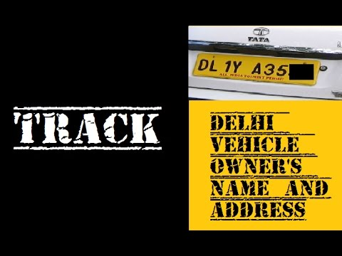How to know Delhi vehicle owner's name and address