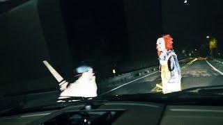 KILLER CLOWN RUN OVER & BEAT Clown Sightings (Original Video)