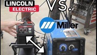 Lincoln 180 Vs Miller 212 - Mig Welder Shootout - Head to Head Comparison - Powermig 180C