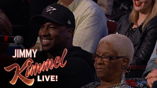 Behind the Scenes with Jimmy Kimmel and Audience (Michael Jordan look-alike)