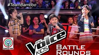"""The Voice Kids PH 2015 Battle Performance: """"Di Bale Na Lang"""" by Narcylyn vs Crissel vs Lance"""