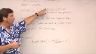Six Sigma - dpmo calculation