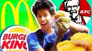 JAPANESE FAST FOOD VS. AMERICAN!!! TASTE TEST!!
