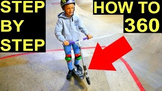 HOW TO 360 ON A SCOOTER✅EASIEST & FASTEST WAY⚠️‼️