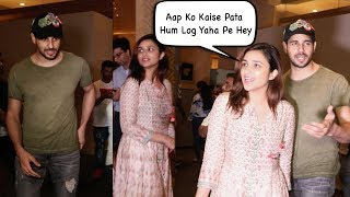 Sidharth Malhotra And Parineeti On DATING And Reporter Catches Together