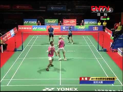 [2011 World Championships BXD-F] Zhang Nan/Zhao Yun Lei vs Chris Adcock/Imogen Bankier [1]