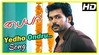 Paiya Movie Scenes | Yedho Ondru Song | Karthi leaves | Tamanna comes in search of Karthi