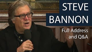 Steve Bannon | Full Address and Q&A | Oxford Union