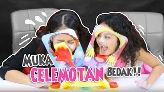 Pie Face Challange Muka Celemotan Bedak!!