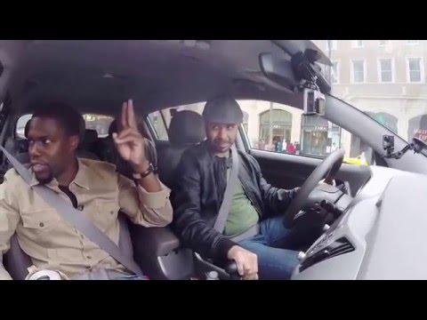 Ice Cube Kevin Hart and Conan Share A Lyft Car