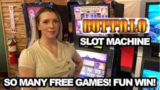 So Much Fun on Buffalo! Free Games Re-Trigger Bonus Rounds! Slot Ladies